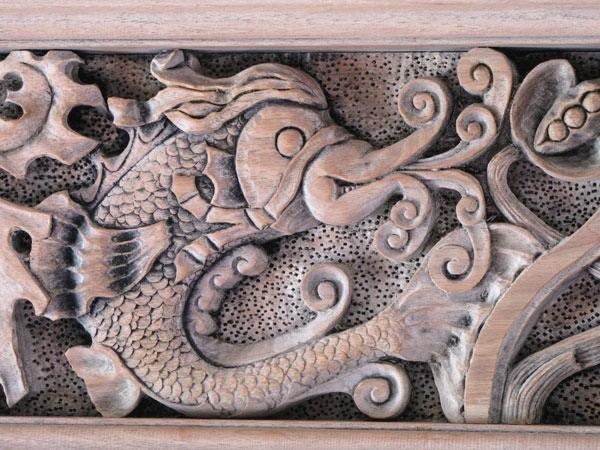 Butternut dolphin jim schoenecker custom wood carving
