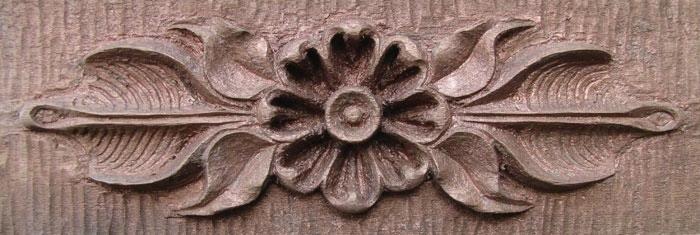Mahogany flower with bronze glaze jim schoenecker custom
