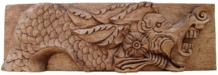 Mahogany gargoyle jim schoenecker custom wood carving